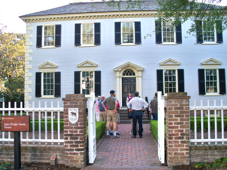 Registrants tour the Stanly House